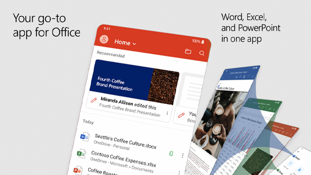 Office 365 app for smartphone