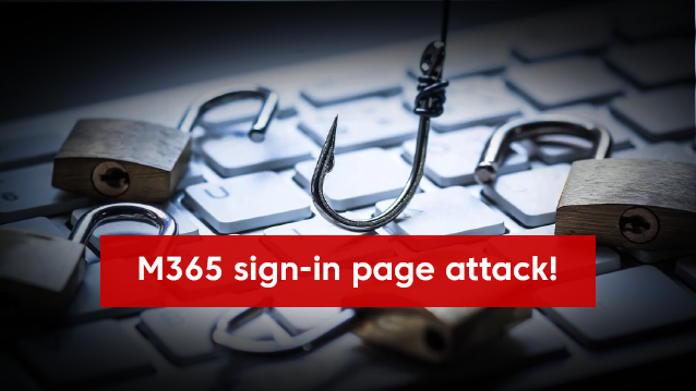 M365 sign-in page attack